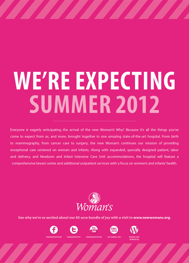 Woman's Hospital   Pink Print: We're Expecting
