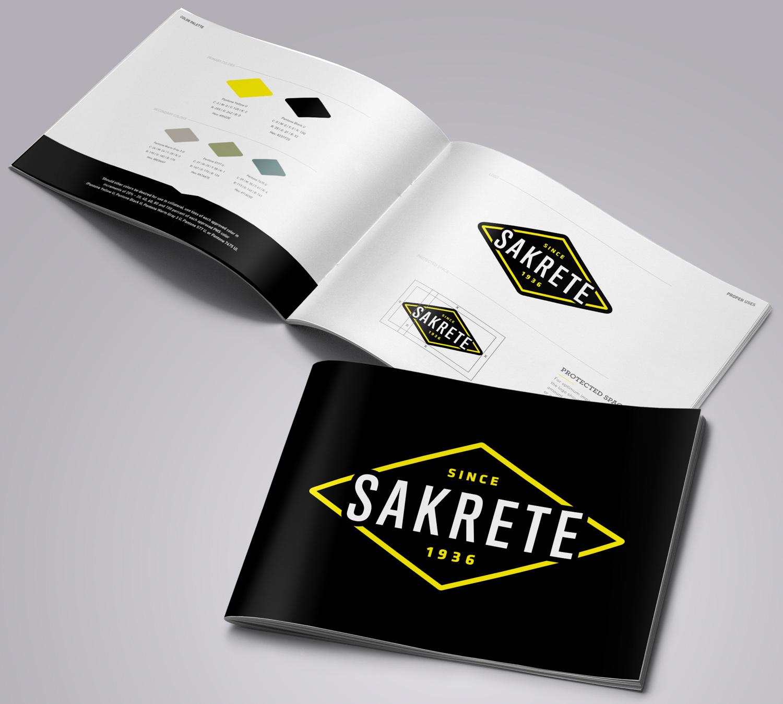 Sakrete | Brand Identity Manual Mockup
