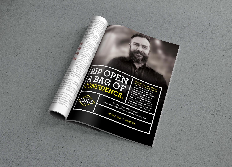 Sakrete | Print Ad Mockup