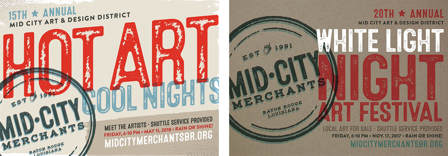 Mid-City Merchants | Event Postcards