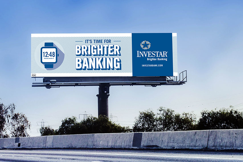 Investar | 2016 Billboard: It's Time for Brighter Banking