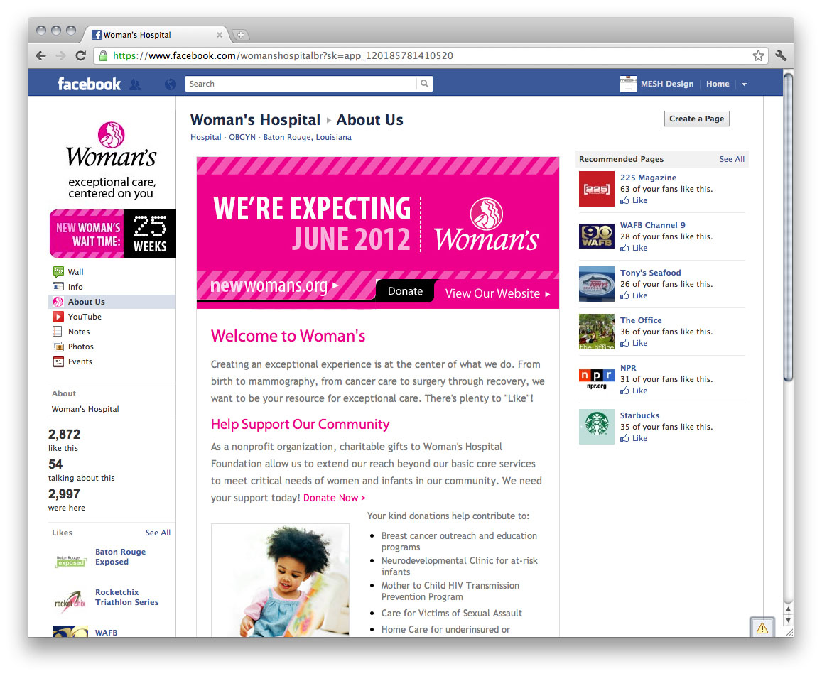 Woman's Hospital | Pink Facebook
