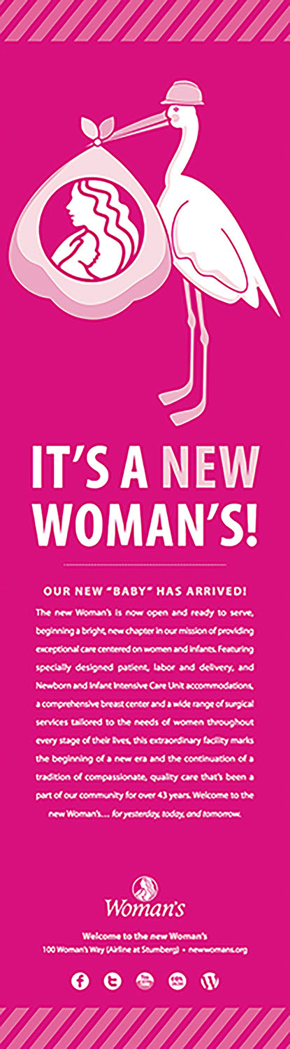 Woman's Hospital | Pink Print: Now Open Advocate