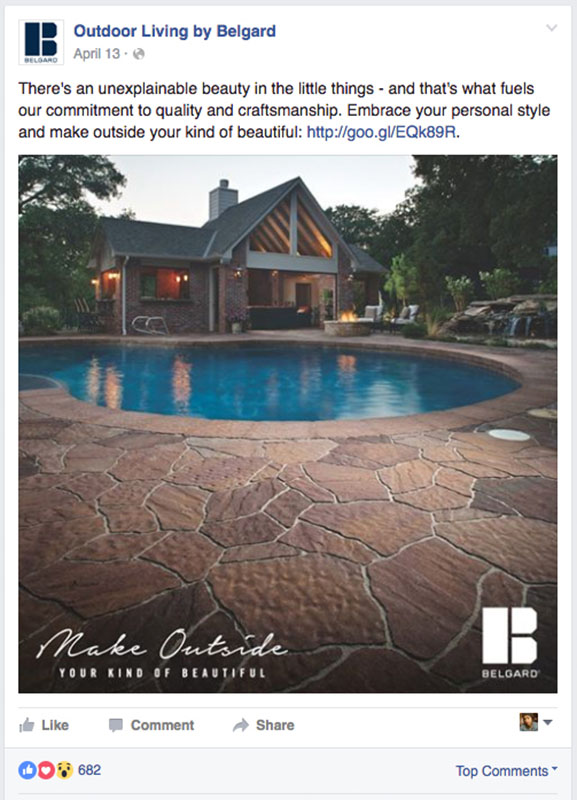 Belgard | 2016 Social Media: House & Pool