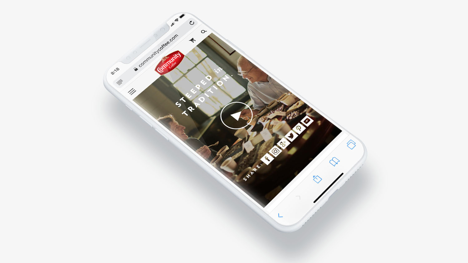 Community Coffee | Mobile Video Screen