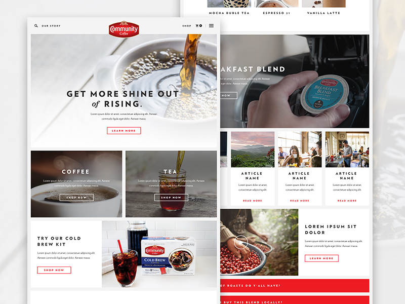 Community Coffee | Internal Pages