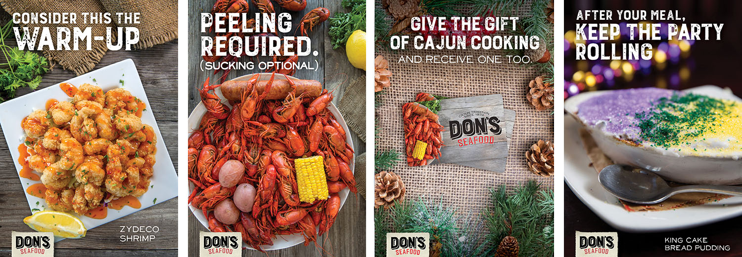Don's Seafood | Table Tents