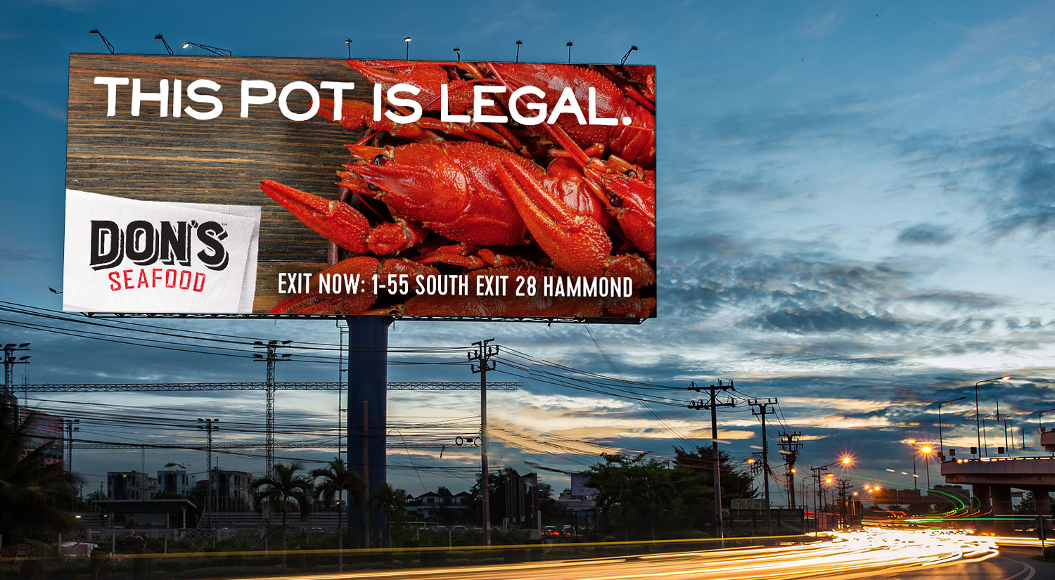 Don's Seafood | Billboard: This Pot is Legal