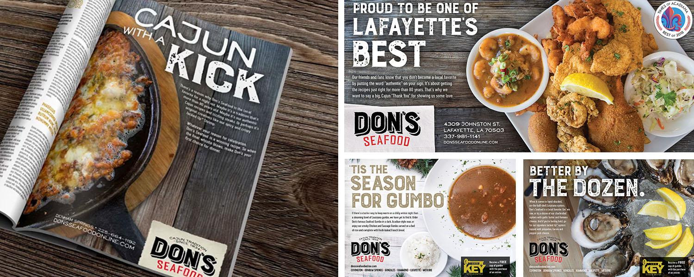 Don's Seafood | Print: Cajun with a Kick