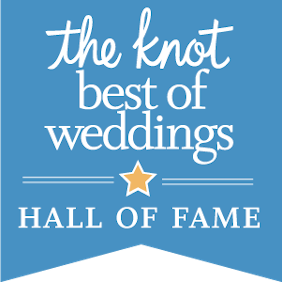 The Knot Best of Weddings Hall of Fame.