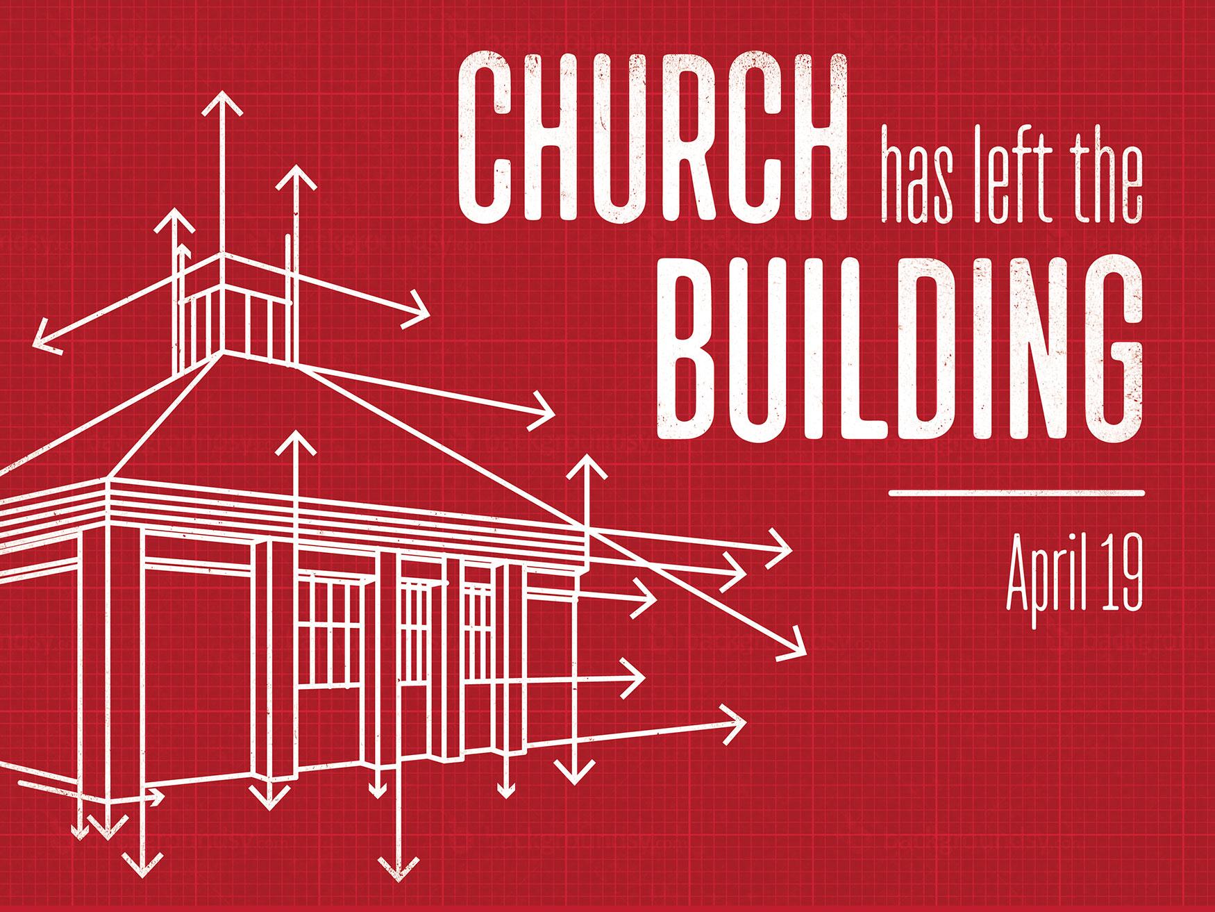 Church Has Left the Building Sermon Series Title Slide