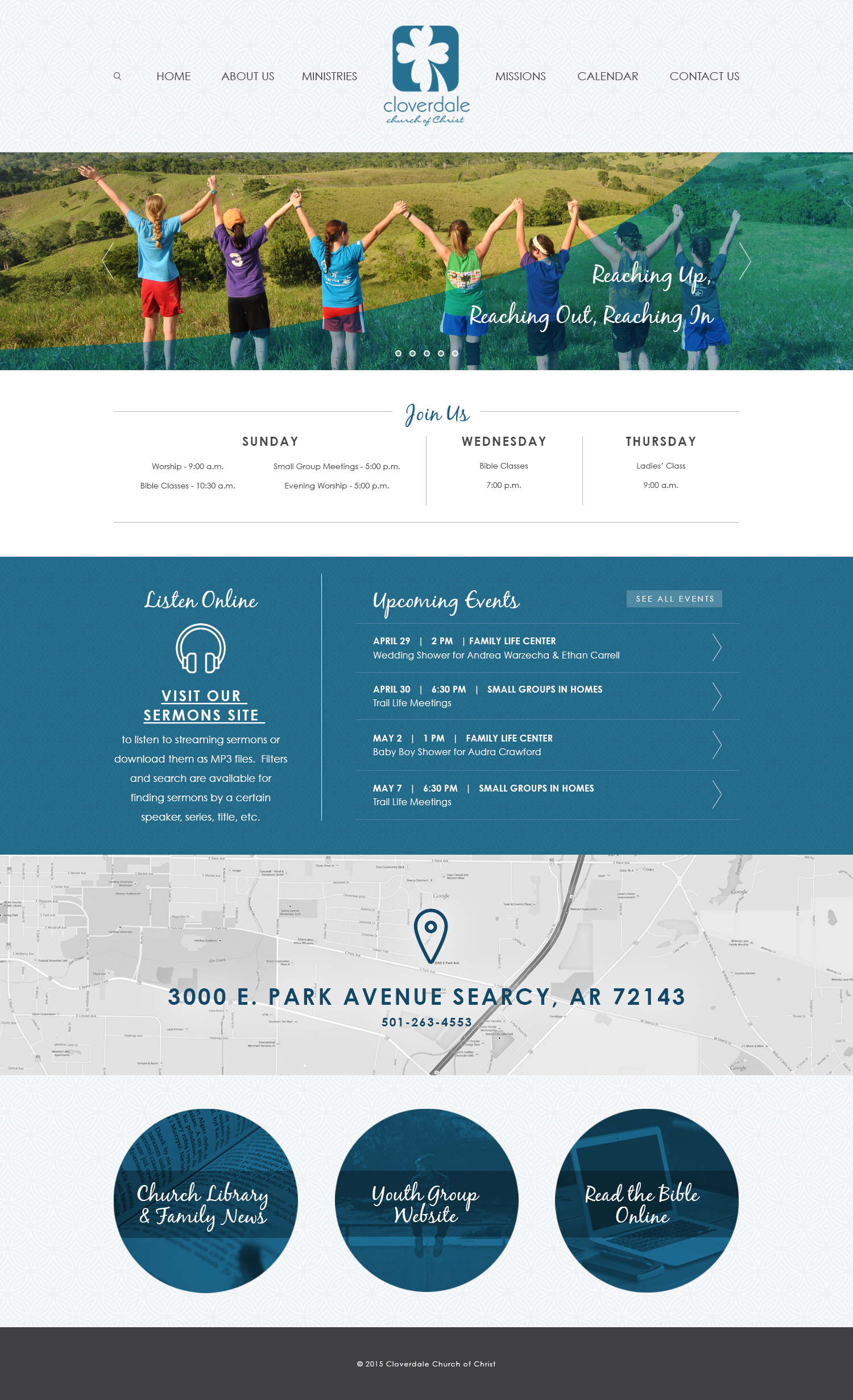 Cloverdale Church of Christ Web Design Home Page