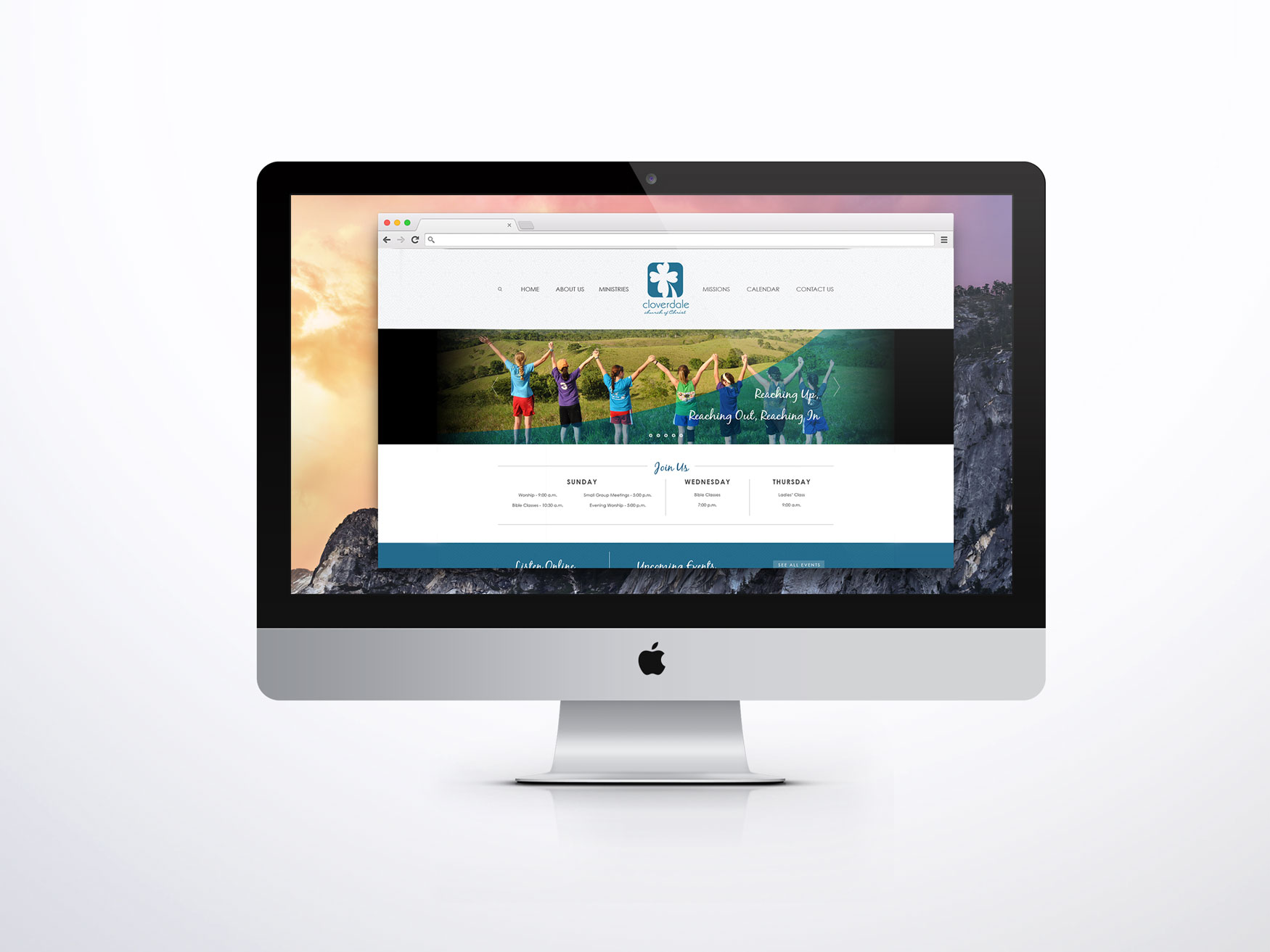 Cloverdale Church of Christ Web Design Mockup