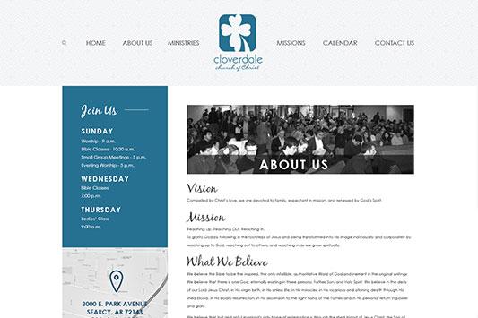 Cloverdale Church of Christ Web Design