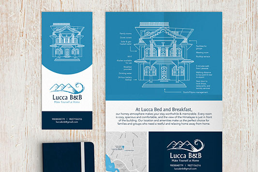 Lucca Guesthouse Print Design