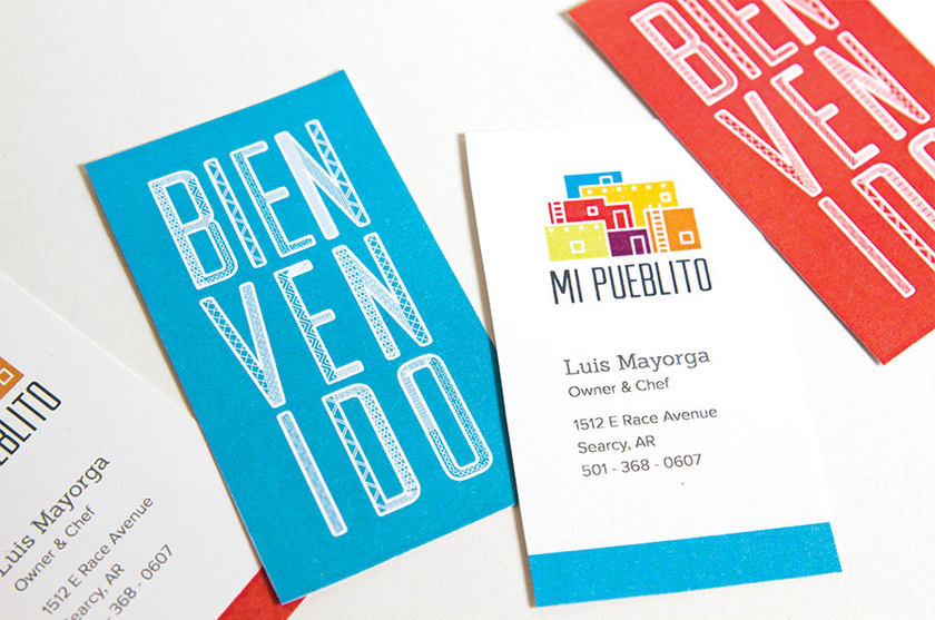 Mi Pueblito Branding Business Cards