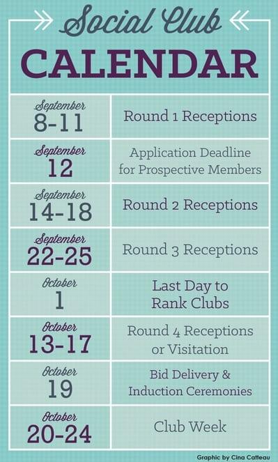 Bison Newspaper Infographics Social Club Calendar