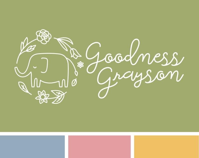 Goodness Grayson branding logo colors