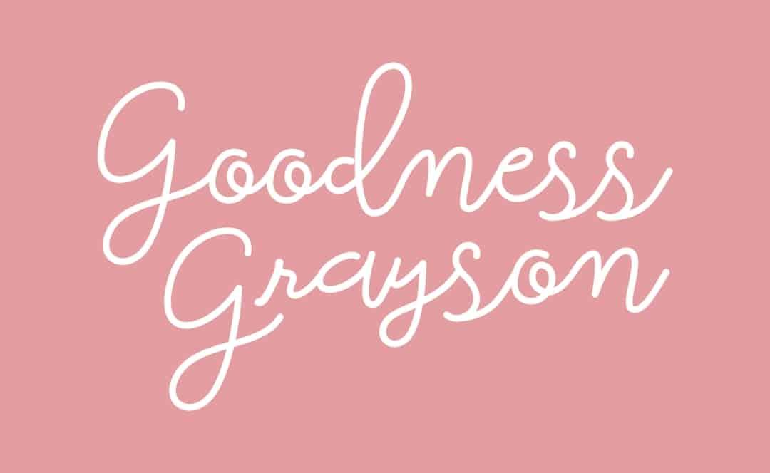 Goodness Grayson branding word mark