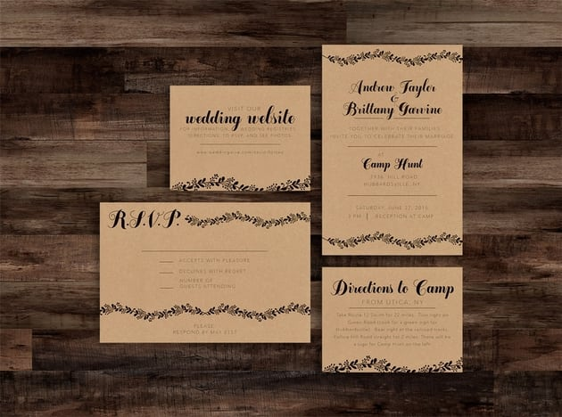 Events and Wedding Invitations RSVP Wedding Website