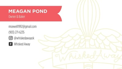 Whisked Away branding business cards