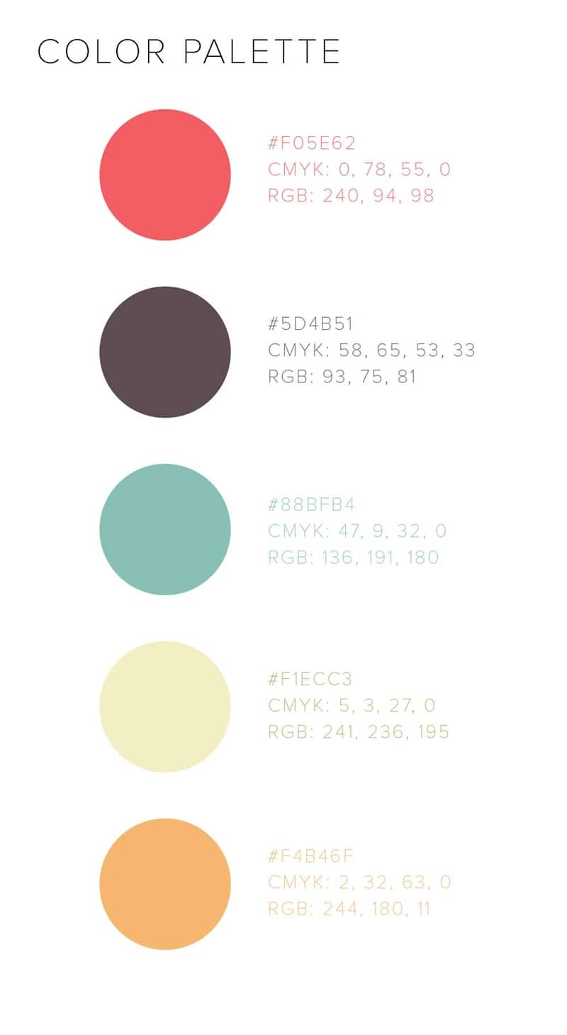 Whisked Away branding color palette