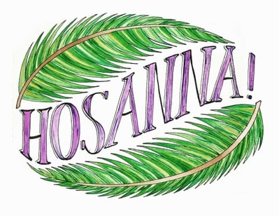 Custom Canvas Design Hosanna Bible Verse
