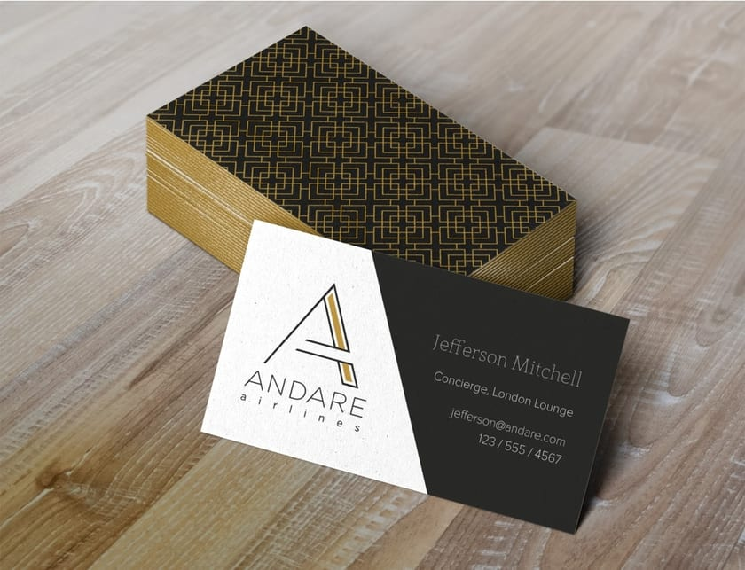 Andare branding business cards
