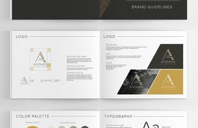 Andare branding brand guidelines