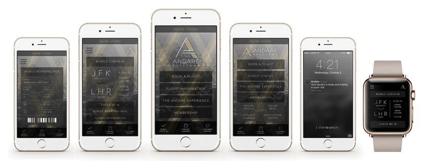 Andare branding app