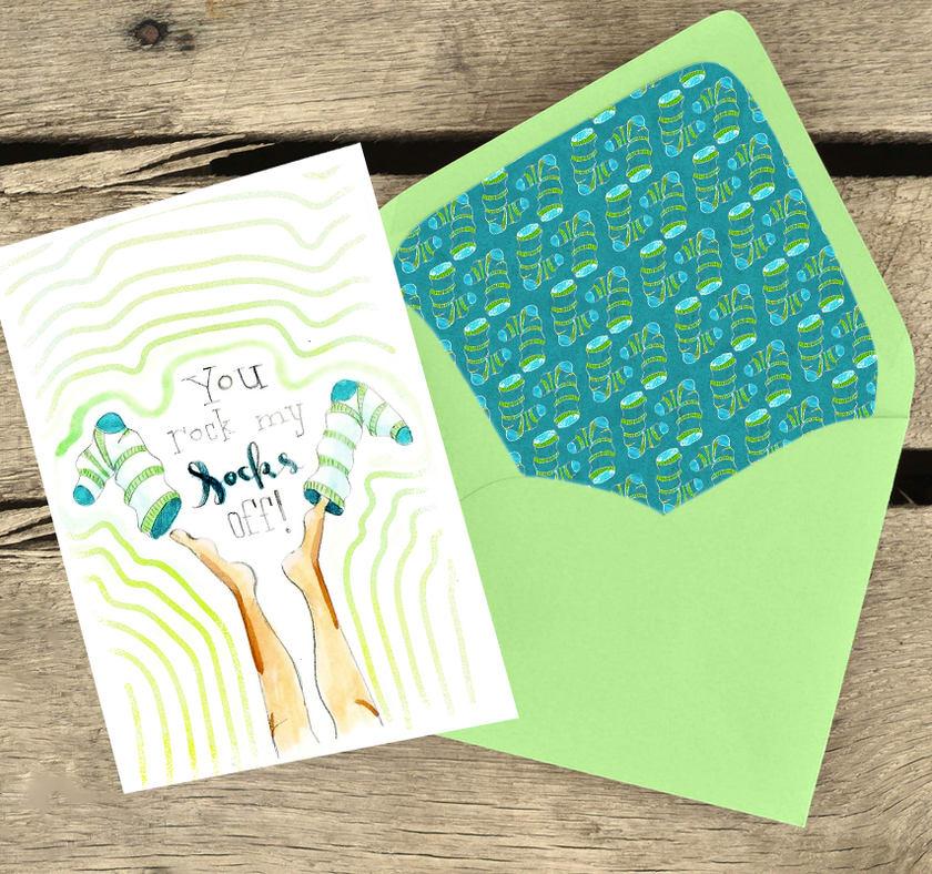 Greeting Card You Rock My Socks Off
