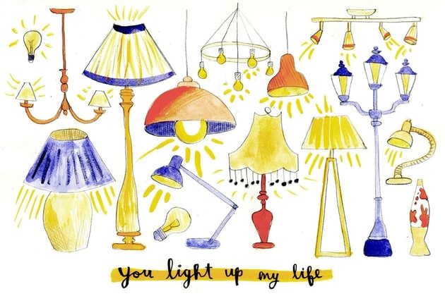 Greeting Card You Light Up My Life