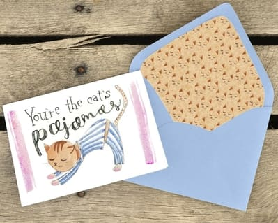 Greeting Card You're the Cat's Pajamas