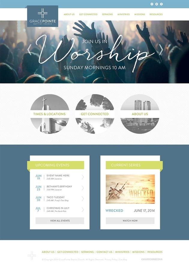 Gracepointe Branding Web Design Website Homepage