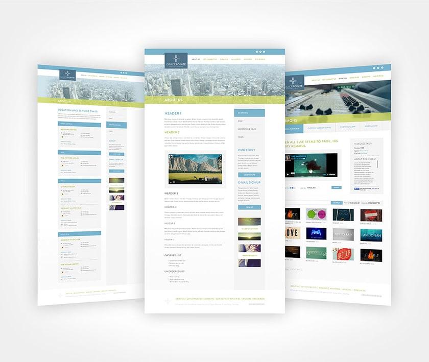 Gracepointe Branding Web Design Webpages