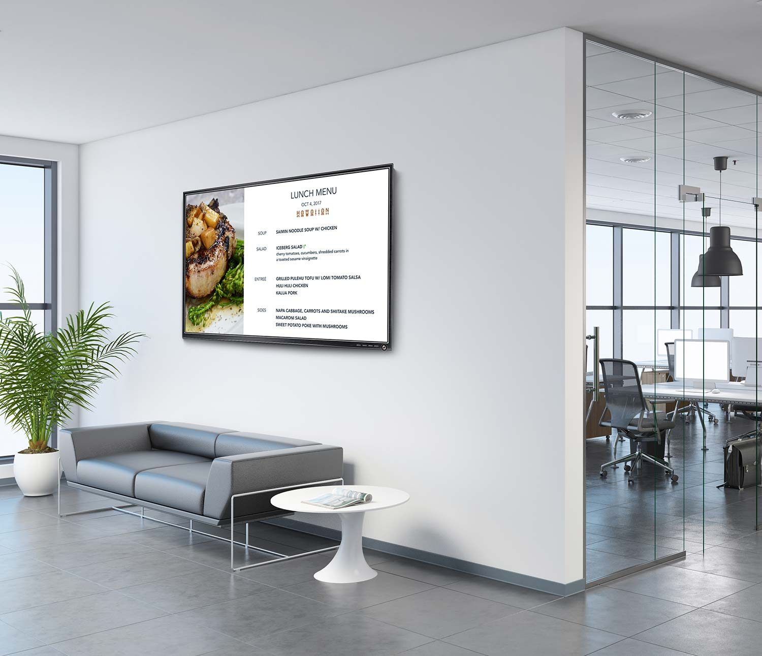 digital signage screen in office