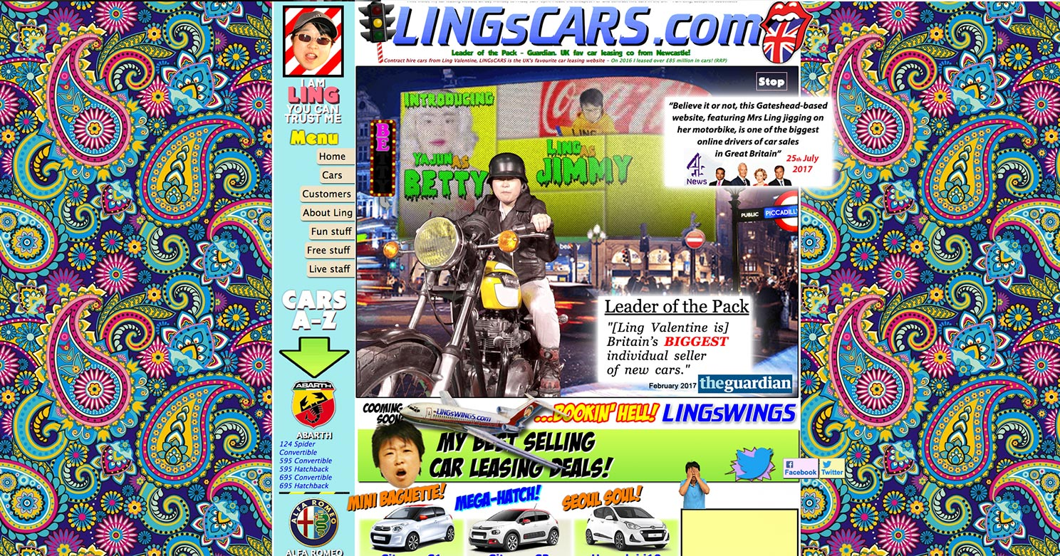 LingsCars.com is infamously known for being a mess and too busy.