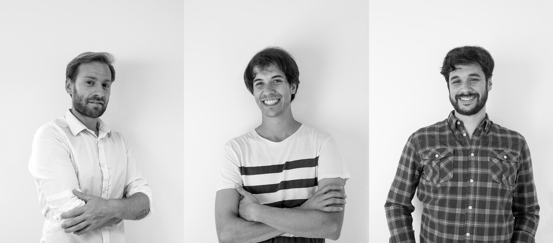 Andrés, Iago y Dani. El equipo de 988