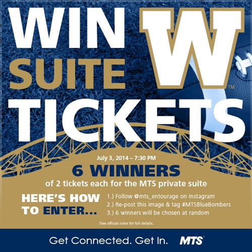 MTS Winnipeg Blue Bombers Contest
