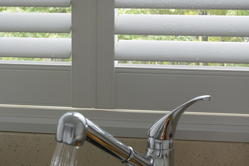 Water resistant shutters