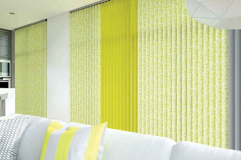 Vertical Blinds Confette Chartreause