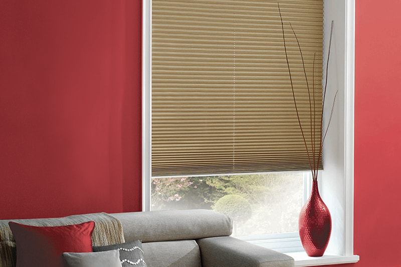 Pleated Blinds Shot Silk Champagne