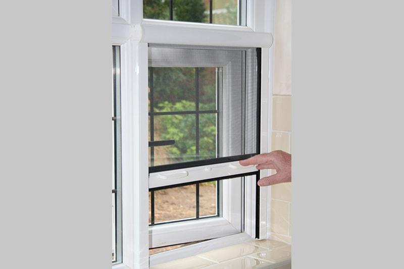 Unika retractable window screen