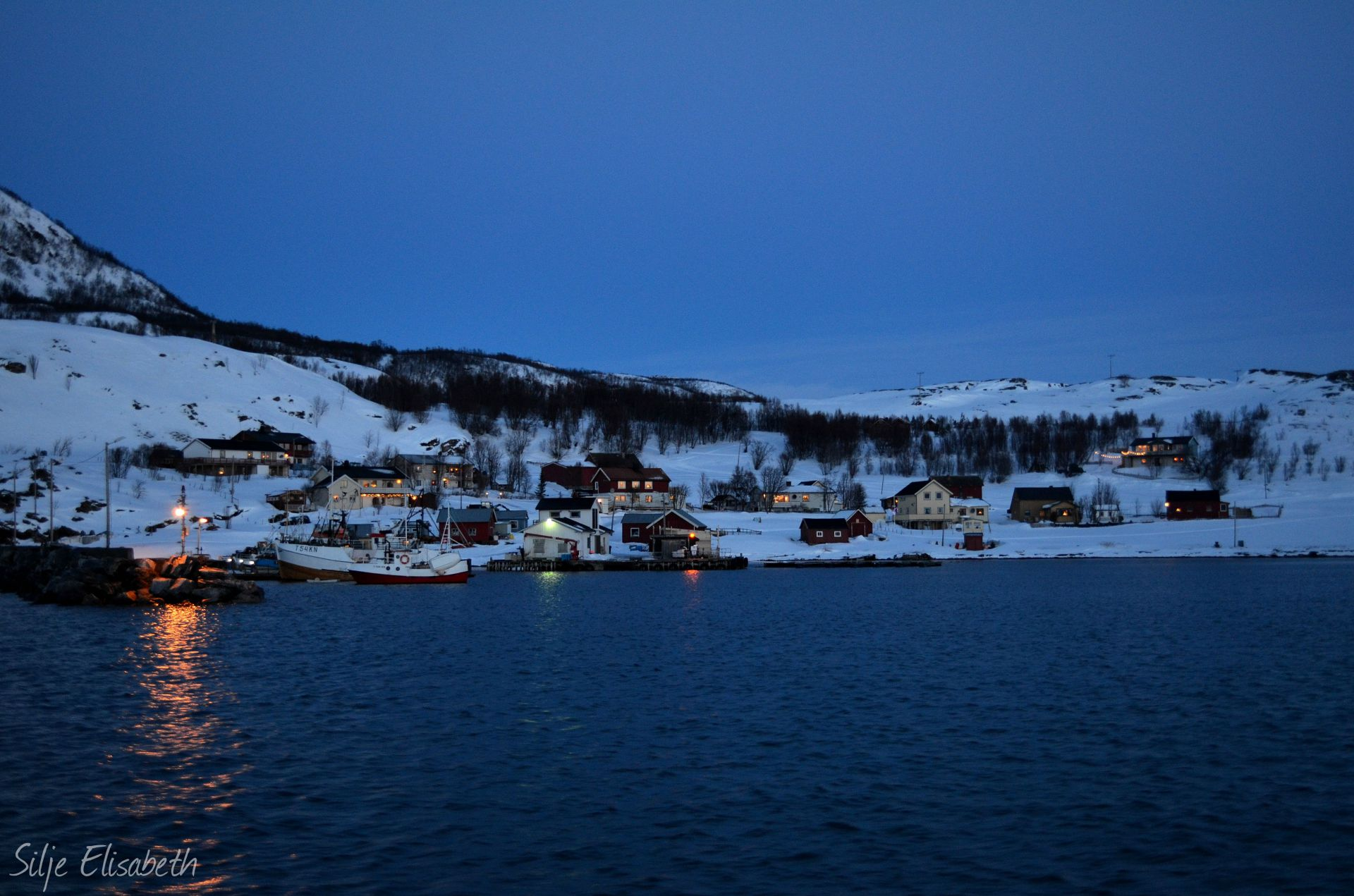 Kvænangen during winter