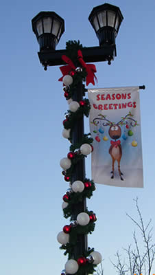 Commercial Street Light Holiday Decor