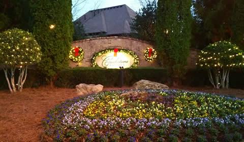 Community Entrance Christmas Lighting