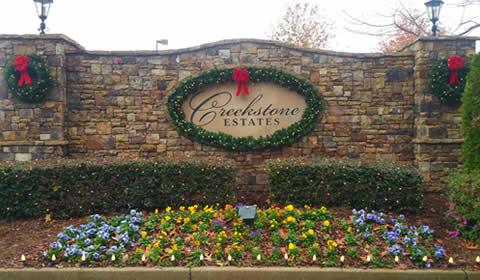 Community Entrance Decor for Holidays