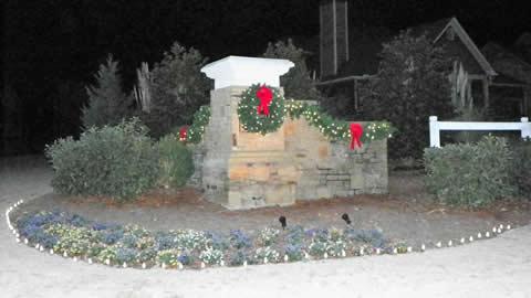Hiram Community Entrance Decor