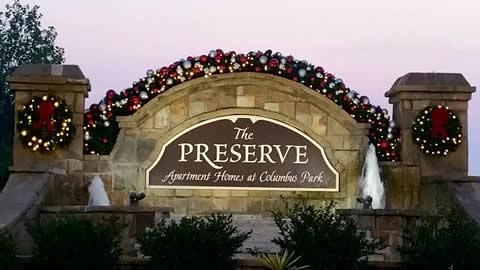 The Preserve Community Entrance Decorations