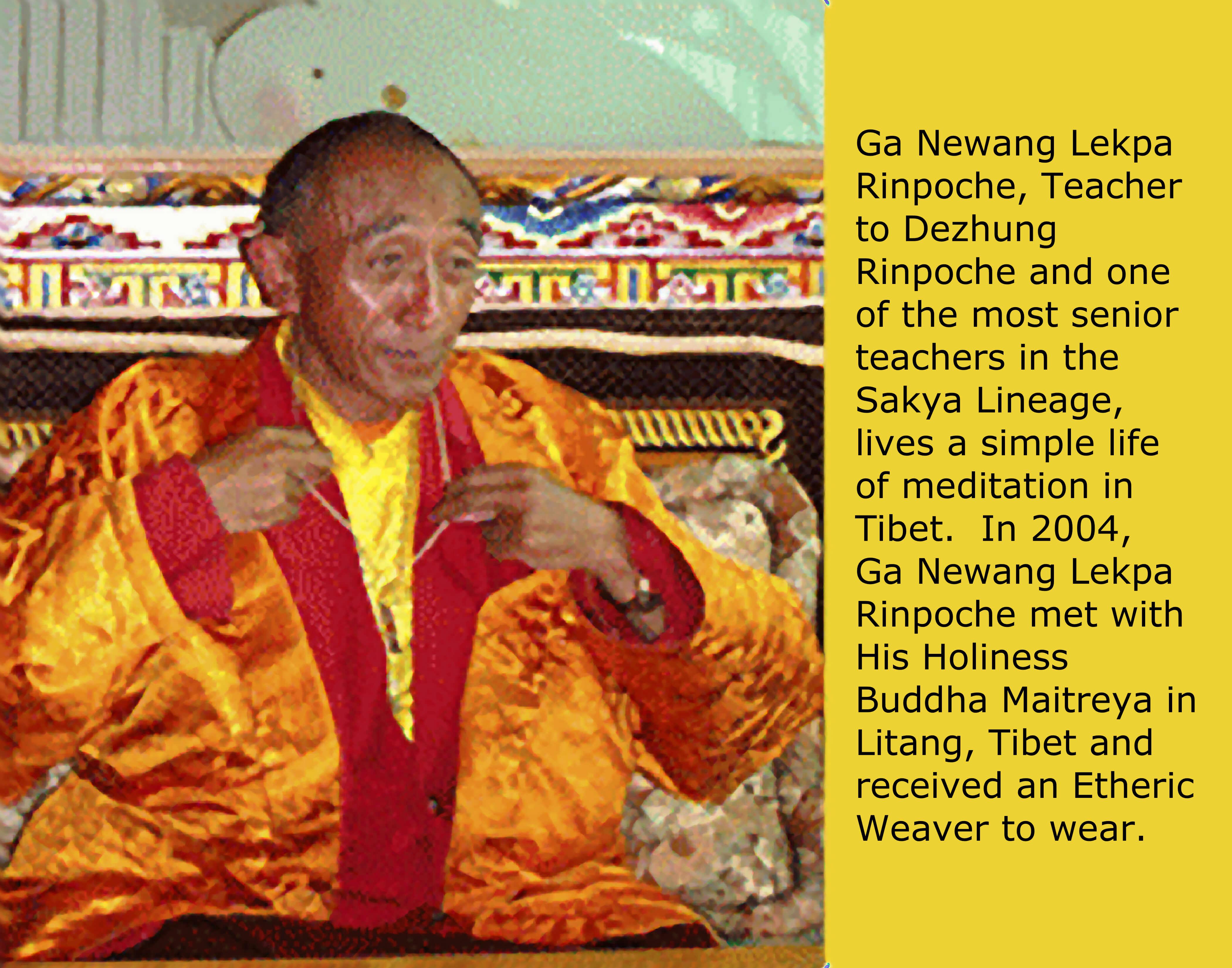 Buddha Maitreya met Ga Newang Lekpa